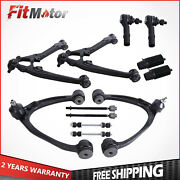 Front Upper Lower Control Arms Tie Rod Ends For Chevrolet Silverado Gmc Sierra