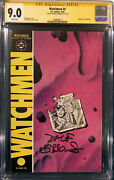 Dave Gibbons Signed Watchmen 4 Cgc 9.0 Ss Comic Book Hbo Tv Not Cbcs Alan Moore