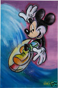 Dick Duerrstein Original Acrylic Painting Mickey Mouse Signed Auto Disney