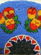 Sioux Beaded Purse Antique Great Plains Native American Beadwork Bag Clutch