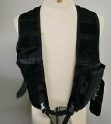 Military 5.11 Tactical Series Load Bearing Black Vest Adjustable - One Size