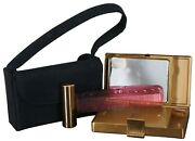 Vintage Elgin American Compact Mirror Comb Purse Powder Puff Carrying Case