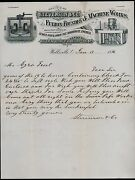 1886 Wellsville Oh Stevenson And Co Fulton Foundry And Machine Works Letterhead Rare