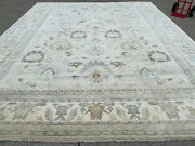 12x15 Handmade Muted Wool Rug Hand-knotted Neutral Oriental Big Large Carpet Rug