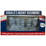Mount Rushmore Statue With Donald Trump Head - Says 8 Different Audio Lines
