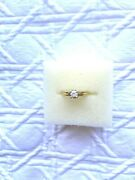 Diamond Ring 0.2 Ct Sold 14k Gold Size 7