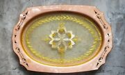 Vintage 1930s Art Deco Celluloid Bakelite Lace And Glass Vanity Perfume Tray