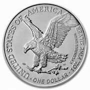 2021 American Eagle 1 Oz Silver Type 2 Coin In Capsule From Us Mint Tube Presale