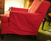 Pair Of Heritage Henredon 1952 Antique Matching Living Room Overstuffed Chairs