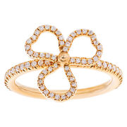 And Co. Paper Flowers Collection Open 3 Leaves Clover Ring With...