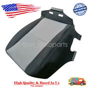 Black And Grey Cloth Bottom Seat Cover For 07-14 Chevy Silverado 1500 2500 3500hd