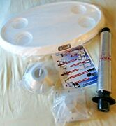 New In Box Todd Marine Products Oval Table Package 29.5 L X 17.5 W