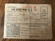 Vintage Ww2 World War Ii - 1942 War Ration Book No. 3 With 189 Stamps