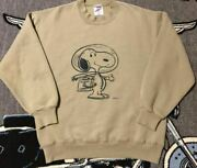 Vintage Snoopy Astronauts Sweat 1960s Usa Model Peanuts Beige M Size From Japan