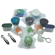 Tupperware Mini Magnets Keychains Prism Bowl Crystalwave Soup Modular Lot Of 14