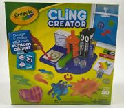 Crayola Cling Creator Design And Make Custom Clings Age 8+ Hands On Craft Set Mold