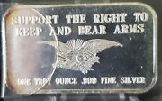 Right To Keep And Bear Arms - 999 Silver Bar 1 Oz