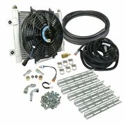Bd-power Xtruded Auxiliary Remote Mount Trans Oil Cooler With Fan And 1/2 Lines