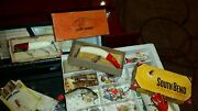 Antique Vintage Fishing Tackle Lures In Original Boxes Sears Vintage Box More