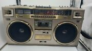 Jvc Rc-m71jw Stereo Cassette Shortwave Radio Boombox Works Great See Video