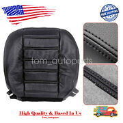 Driver Side Bottom Leather Seat Cover Black For 2003 04 05 06 2007 Hummer H2 Awd