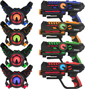 Armogear Laser Tag Gun With Vests Set Of 4 Multi Player For Teen Boys And Girls