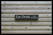 Eat Drink And Be Home Bar Vintage Style Signs Old Antique Man Cave Beer Home Brew