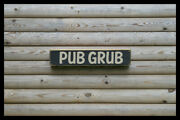 Pub Grub Home Bar Vintage Style Signs Antique Man Cave Beer Home Brew