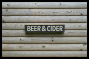 Beer And Cider Home Bar Vintage Style Signs Old Antique Man Cave Beer Home Brew