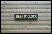 Beer O Clock Home Bar Vintage Style Signs Old Antique Man Cave Beer Home Brew