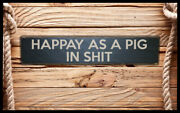 Pig In Shite Home Bar Vintage Style Signs Old Antique Man Cave Beer Home Brew