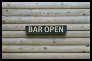 Bar Open Home Bar Vintage Style Signs Old Antique Man Cave Beer Home Brew