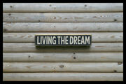 Living The Dream Party Bar Vintage Style Signs Antique Man Cave Beer Home Brew