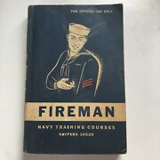 1949 Us Navy Firemanand039s Training Coarse Book Navpers 10520 Official Vintage