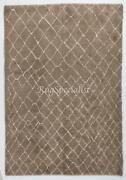 Contemporary Moroccan Rug Made Of Natural Mocha Brown Wool