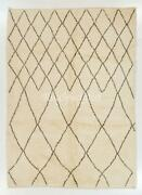 Contemporary Moroccan Rug Made Of 100 Natural Undyed Wool