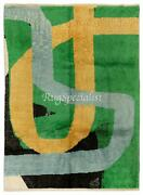 Abstract Modern Hand Knotted Rug 100 Wool Custom Options Available