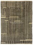 Modern Hand Knotted Wool Rug Charcoal Gray And Cream Colors Custom Options