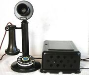 Western Electric 51al 2ab Dial Original Restored Antique Telephone And Subset
