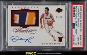 2015 Panini Flawless Ruby Dand039angelo Russell Rookie Rc Patch Auto /15 Psa 10 Gem