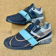 Nike Romaleos 4 Weightlifting Training Shoes Deep Ocean Menand039s Cd3463-440 All Sz