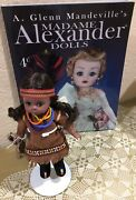"""Madame Alexander 1966 8"""" Indian Girl Doll W/baby In Papoose+box Vintage Preowned"""