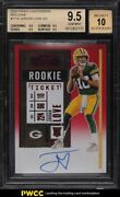 2020 Panini Contenders Red Zone Jordan Love Rookie Rc Auto 111a Bgs 9.5 Gem