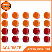 20pc 2.5 Round Shape Amber+red 13leds Trailer Light Side Marker Clearance Lamp