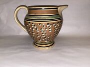 Staffordshire Mochaware Mocha Large Pitcher 100andrsquos Cats Eye Ca. 1820andrsquos