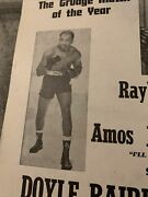 Old Boxing Poster Akron Doyle Baird Ray Sugar Anderson Amos Johnson Billy Kelly