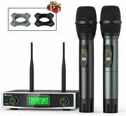 Fifine Wireless Microphone System Two Handheld Dynamic Cordless Mic High-quality