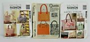 Mccall's Purse Bag Tote Patterns Sewing Laura Ashley And Quickie Uncut Lot Of 3