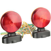 Magnetic Towing Light Kit 12v Dual Sided Red Amber For Rv Boat Trailer Truck Car