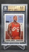 2003 Fleer Tradition Lebron James 261 Rc Rookie Bgs 9.5 W/ 2x10s
